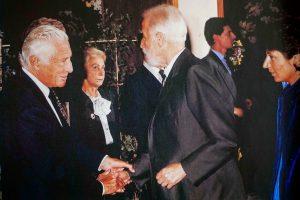 Renzo Gandolfo con Gianni Agnelli