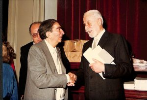 Renzo Gandolfo con Gianfranco Contini